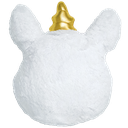 Gold Horn Unicorn Scented Furry Pillow