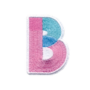 B Initial Color Block Sticker Patch