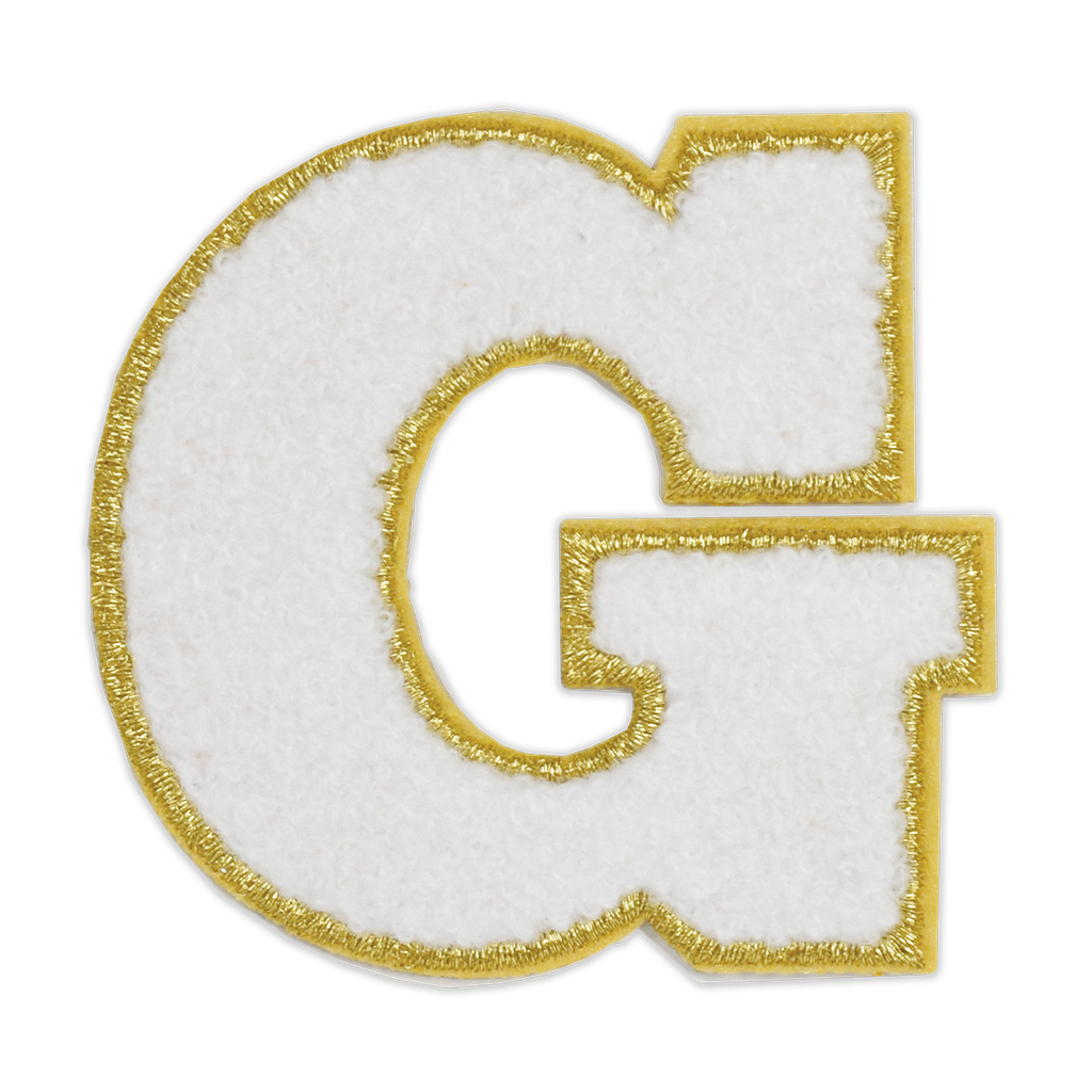 G Initial Varsity Sticker Patch