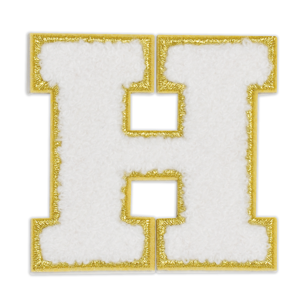 H Initial Varsity Sticker Patch