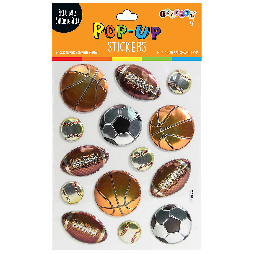Sports Balls Pop-Up Stickers