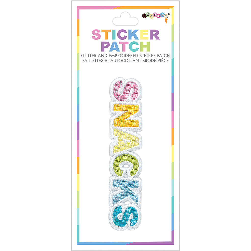 Snacks Embroidered Sticker Patch