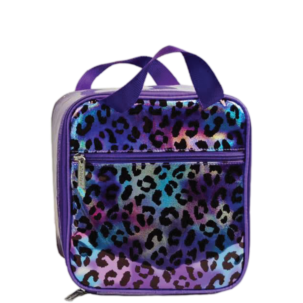 Leopard Iridescent Lunch Tote