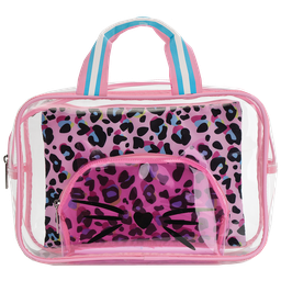 [810-1440] Pink Leopard Cosmetic Bag Trio