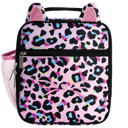 [810-1443] Pink Leopard Lunch Tote