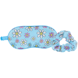 [880-283] Daisies Eye Mask and Scrunchie Set